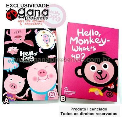 Álbum de fotos linha hello pig pink macaquinho - B