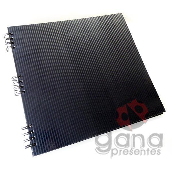 Álbum para Scrapbook e Livro de Assinaturas G Preto 34,0x31,0cm 20 folhas espiral