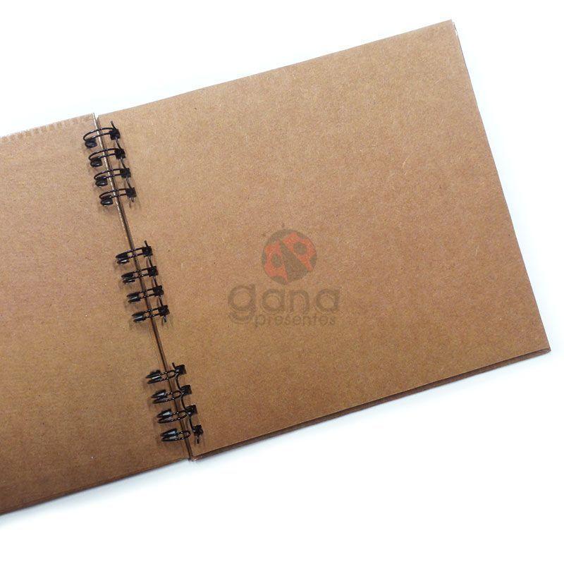 Álbum para Scrapbook e Livro de Assinaturas P Preto 24x21,5cm 20 folhas Craft espiral Capa Preta 24x22,5cm