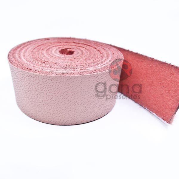 Alça de couro para cartonagem Rosa Claro