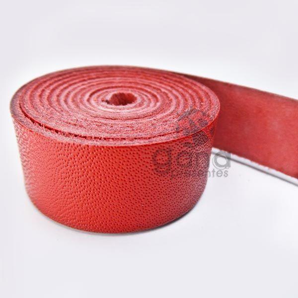 Alça de couro para cartonagem Vermelho