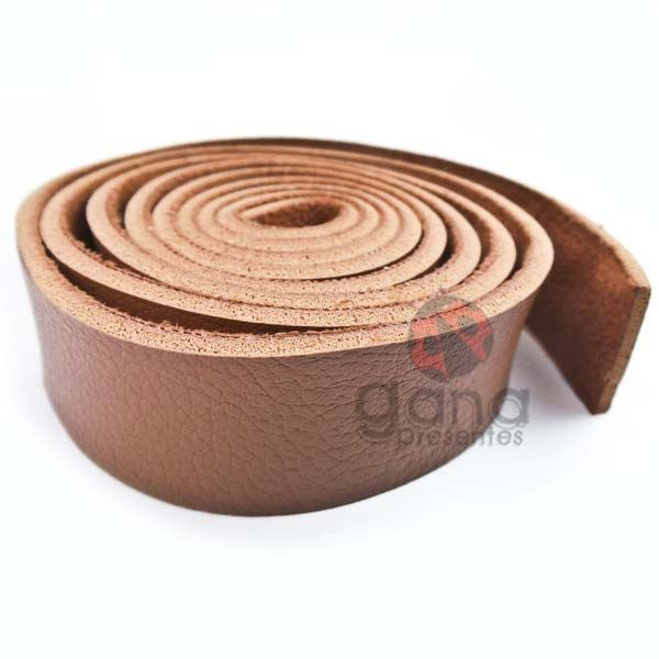 Alça de couro sintético Caramelo para cartonagem e forração
