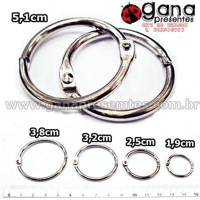 Argolas Articuladas Para Álbuns E Blocos Metais - Argola Articulada 15mm 2unidades