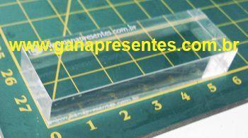 Base de Acrílico para carimbo 2cm X 6cm - 100901P