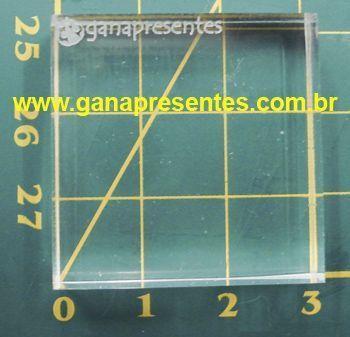 Base de Acrílico para carimbo 3cm X 3X3cm - 100900P