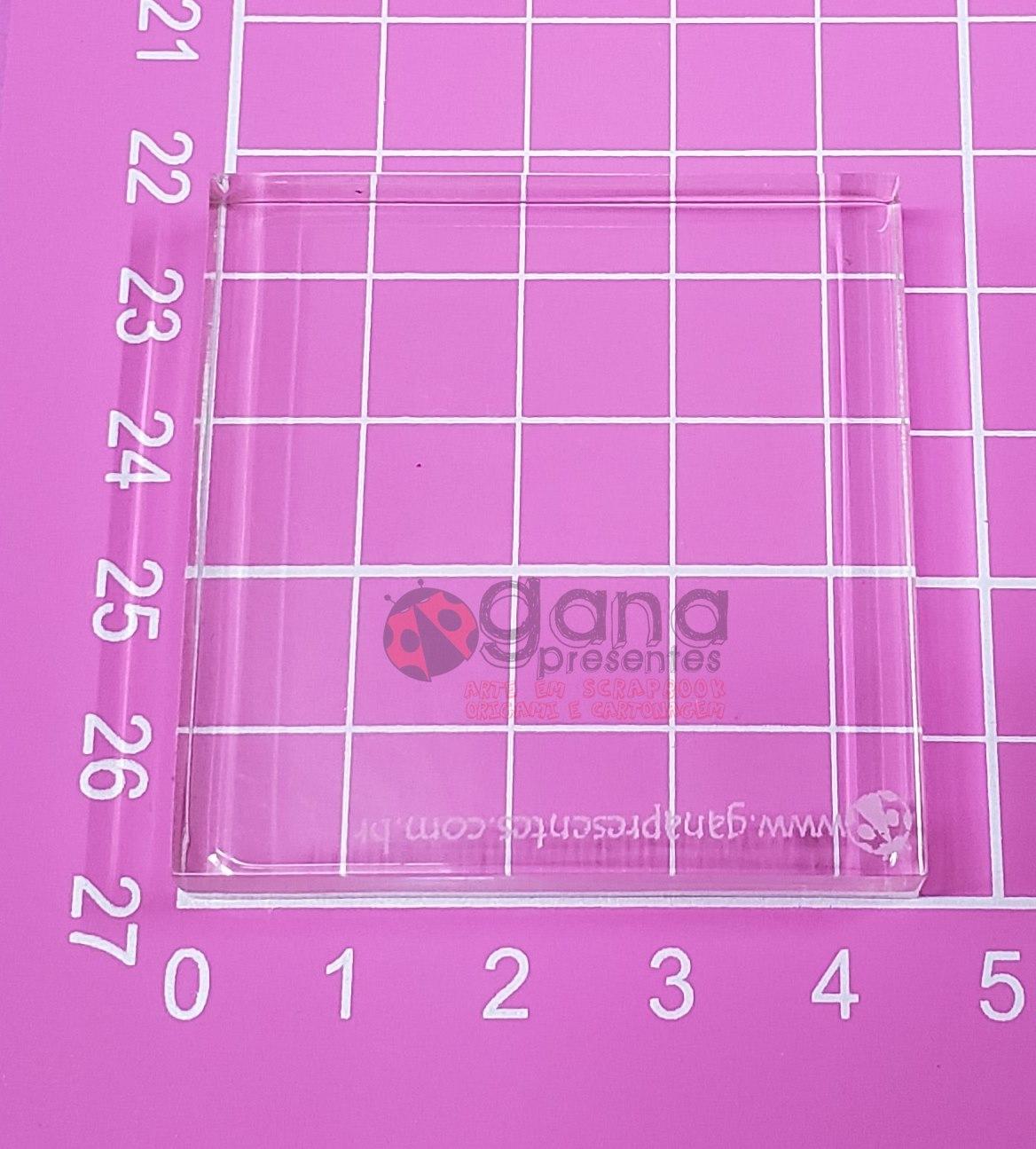 Base de Acrílico para carimbo 4,5cm X 4,5X4,5cm - 100903P