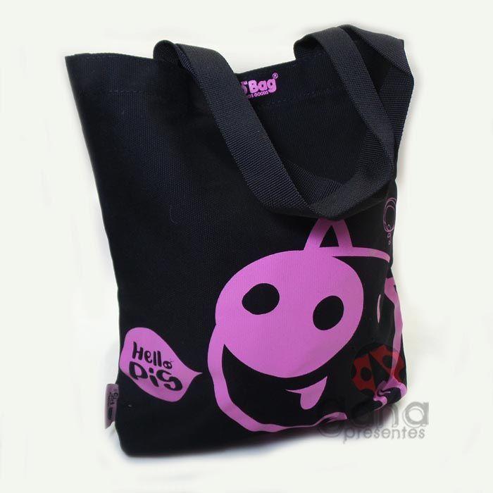 Bolsa Sacola Hello Pig