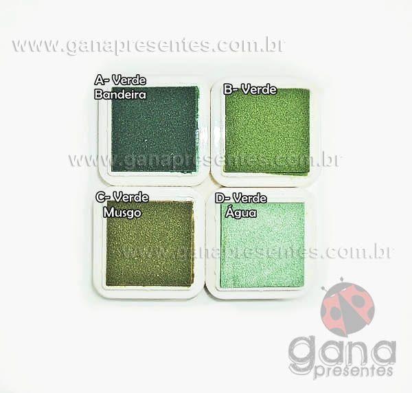Carimbeiras artísticas - Scrapbook Carimbeira artística B Verde INK002-17