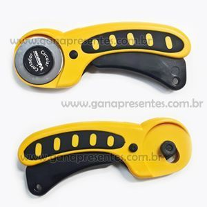 Cortador Circular 45mm para cartonagem - YH-930 Amarelo