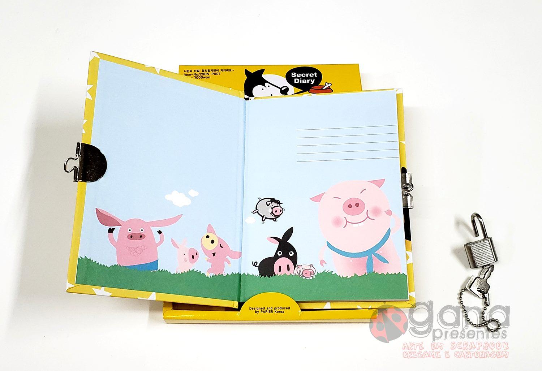 Diário Secreto Hello em 4 capas - 29DN-P007 A AMARELO DOG