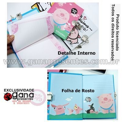 Diário Secreto Hello em 4 capas - 29DN-P007 D AZUL BANANA