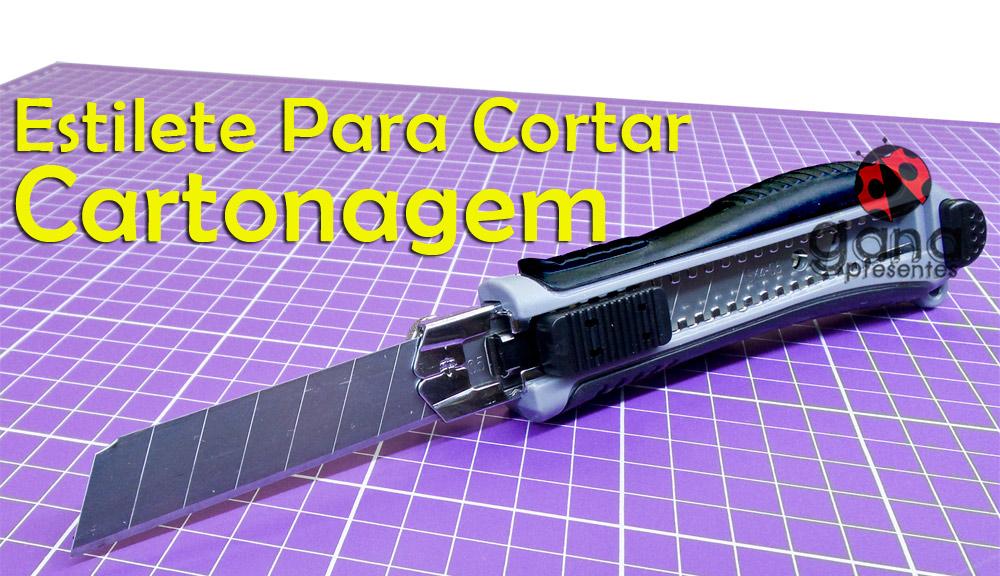 Estilete Profissional para Cartonagem e afins - Corte de Holler, papelão cinza, couro Paraná afins- cinza