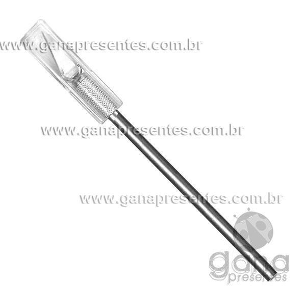 ESTILETE PARA TRABALHOS MANUAIS DE PRECISÃO 1 lâmina cabo metálico HK-601C