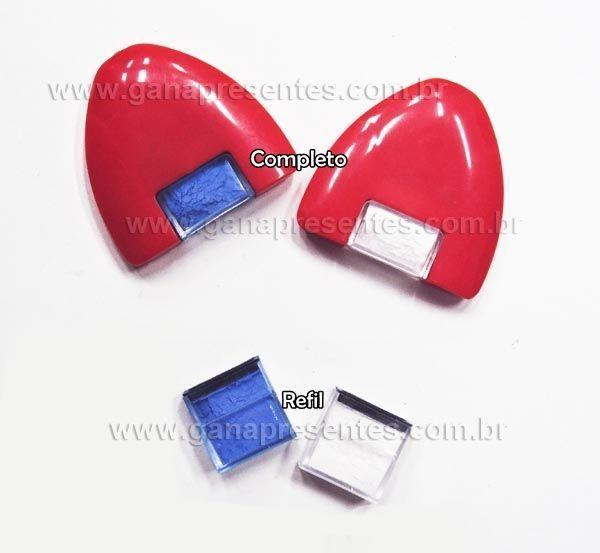 Giz em pó para marcar tecido - cartonagem forração francesa COMPLETO AZUL