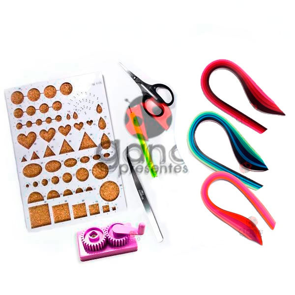 Kit Básico de Quilling com 8 produtos
