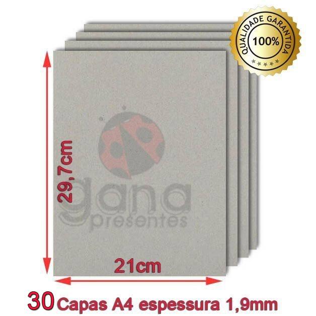 Kit de Cartonagem Capa Caderno A4 com 15 Pares -30 unidades - Espessura 1,9mm só papelão 30