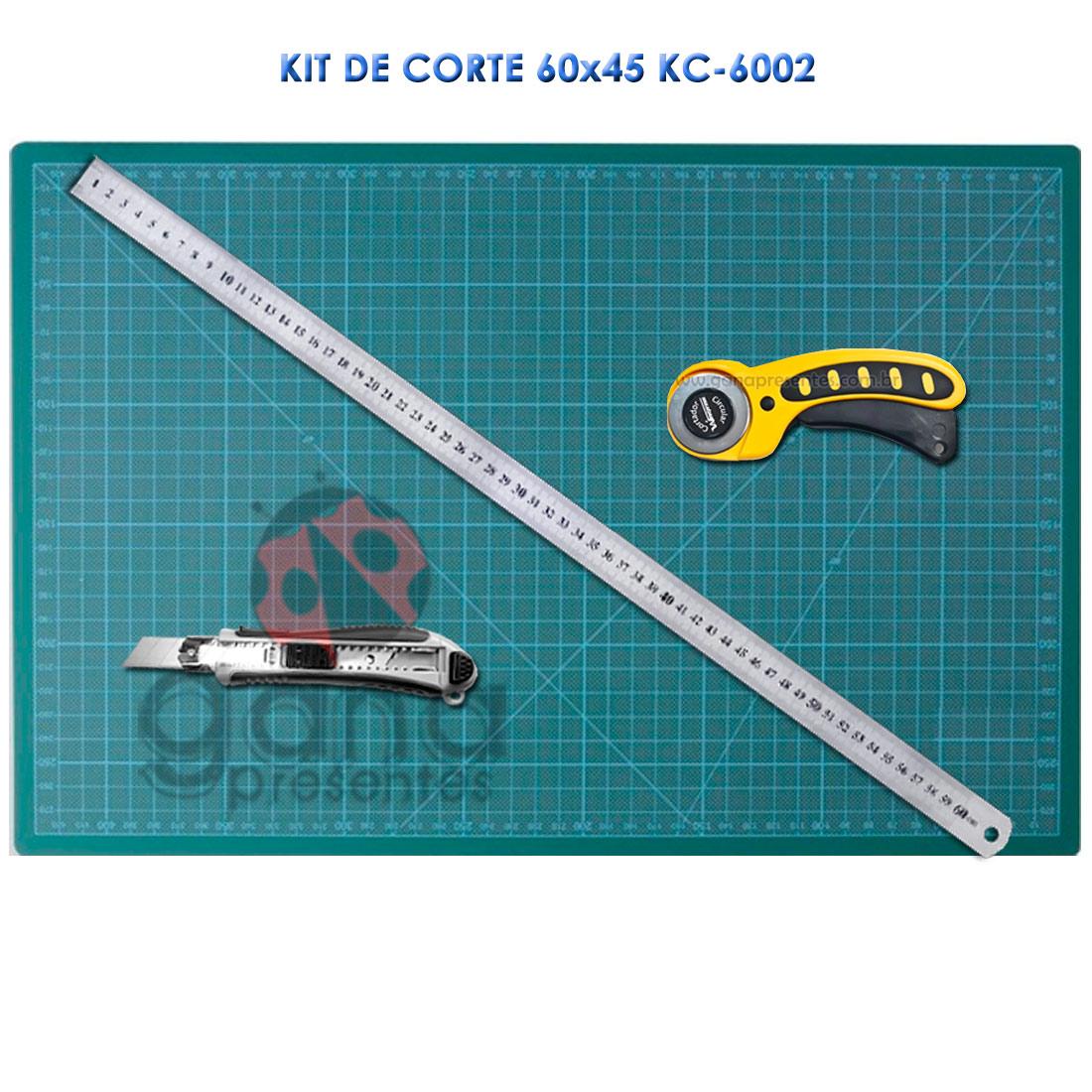 Kit de Corte - Base 60x45 + estilete régua 60cm cortador circular KC-6002 estil rég