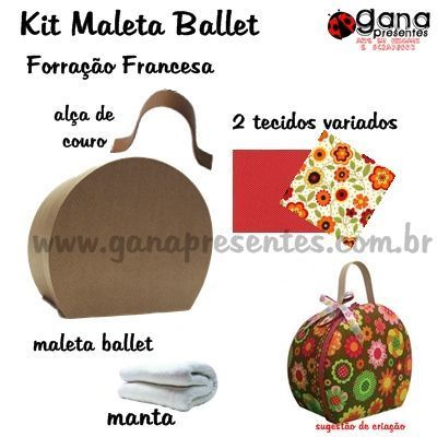 Kit de forração francesa maleta ballet M