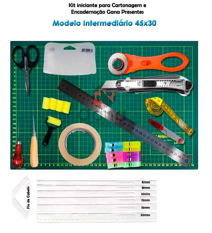 Kit iniciante para cartonagem Modelo Intermediário 45x30