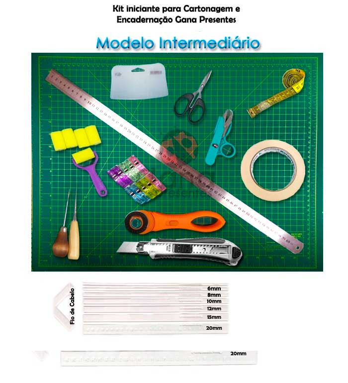 Kit iniciante para cartonagem Modelo Intermediário 60x45