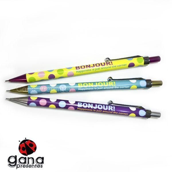 LAPISEIRA 0,5mm Bonjour 2001507 0,5 - A Amarelo com ponta Roxo