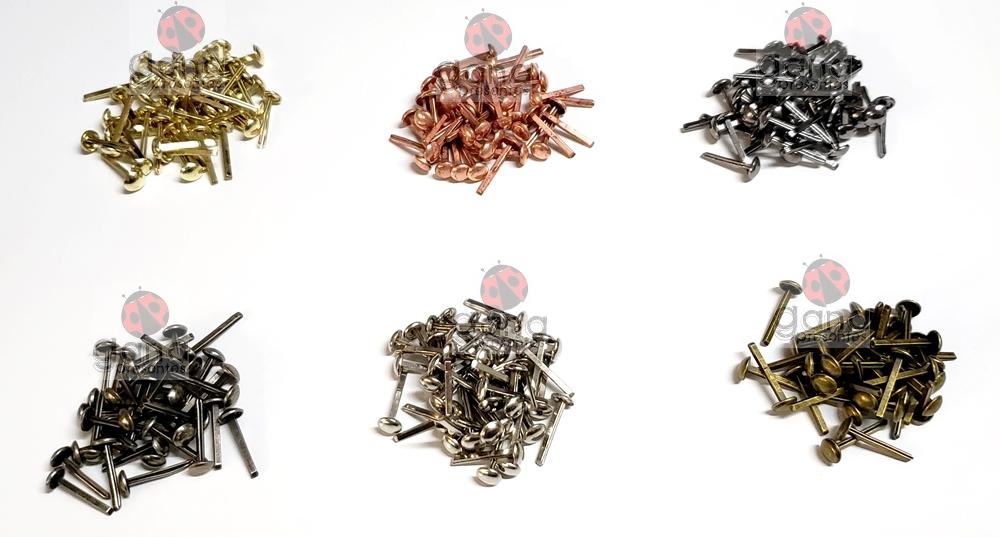Metais - Bailarina de metal 6mm DOURADO para cartonagem 100 unidades