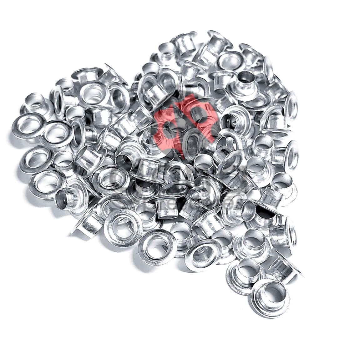 Metais - Ilhós de Alumínio nº54 Polido 4,7mm Diâmetro Interno 100
