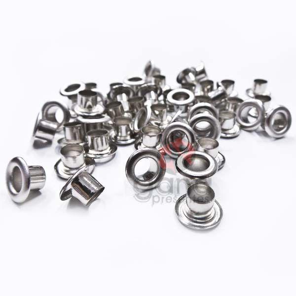Metais - Ilhós de Ferro nº51 Prata 5,5mm ou 7/32 para cartonagem 200