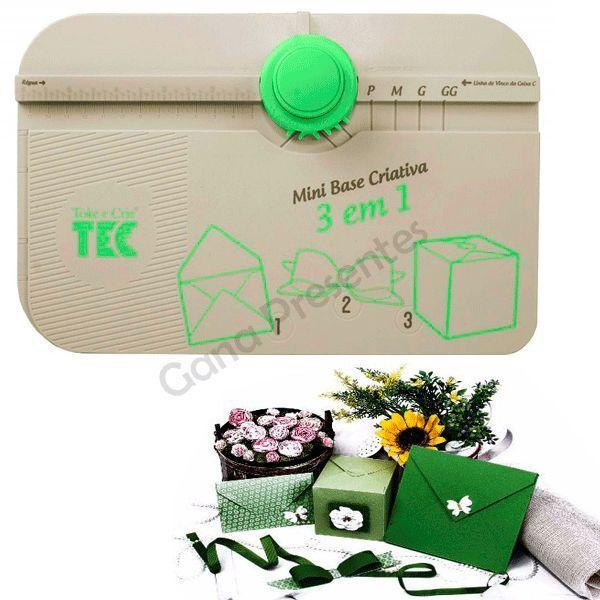 Mini Base Criativa 3 em 1 - Caixa, Envelope e Laço