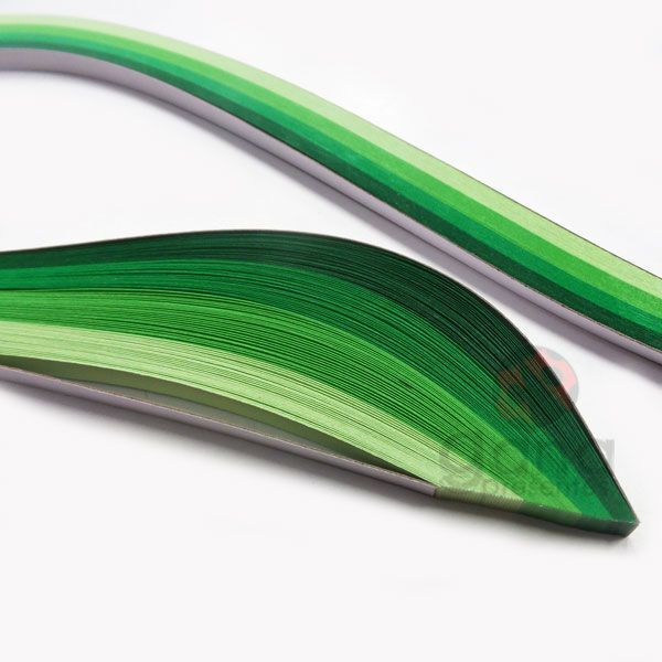 Papel para Quilling Verde 12086