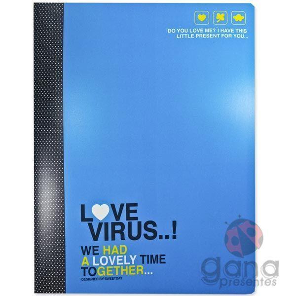 Pasta Catalogo 20 folhas SWEETDAY SD0901-44230 - A AZUL LOVE VIRUS