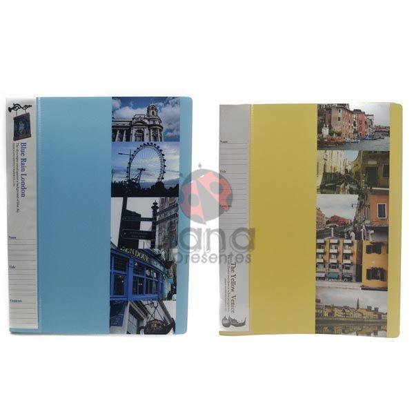 Pasta Catalogo 40 folhas London ou Venice 210ET-P053 - A (Azul)