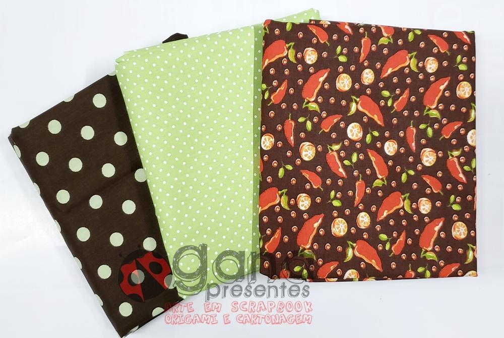 Tecido de Revestimento cartonagem - Kit 3 tecidos Composê Cozinha Composês