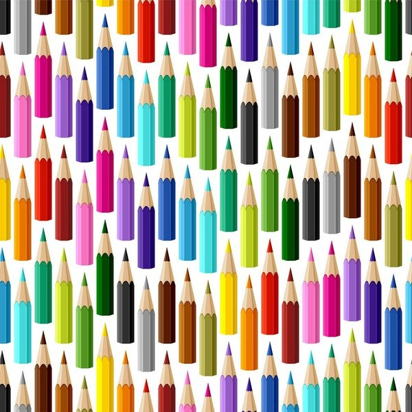 Tecido de Revestimento cartonagem patchwork Digital - Estampado nº359 estampa #359 Lápis fundo branco