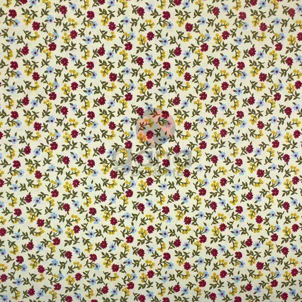 Tecido de Revestimento cartonagem patchwork - Estampado Amarelo nº425 Amarelinho com mini floral