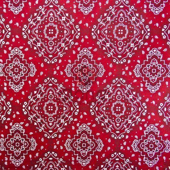 Tecido de Revestimento cartonagem patchwork - Estampado Vermelho nº074 nº 074 Bandana