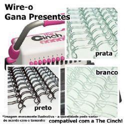 Wire-o Encadernação 1 1/4polegadas = 3,2cm Cinch Passo 2:1 - Preto