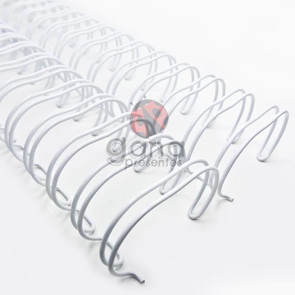 Wire-o Encadernação 1polegada = 2,5cm BRANCO Cinch Passo 2:1 -