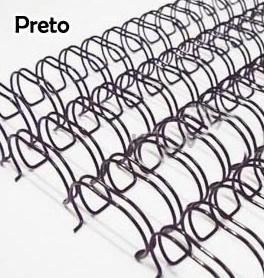 Wire-o Encadernação 1polegada = 2,5cm Preto Cinch Passo 2:1 -