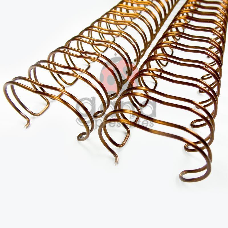Wire-o Encadernação 5/8polegada = 1,6cm BRONZE Cinch Passo 2:1 -