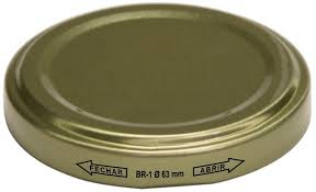 Tampa Metálica BR 63 Dourada - Kit 60 peças