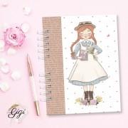 Anne White - Modelo 6 - Agendas | Bloquinhos | Cadernos