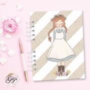 Anne White - Modelo 7 - Agendas | Bloquinhos | Cadernos