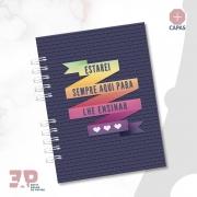 Caderno A5 - Ao Mestre com Carinho