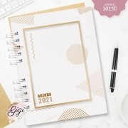 Geométrico Gold 1015F - Agendas | Blocos | Cadernos