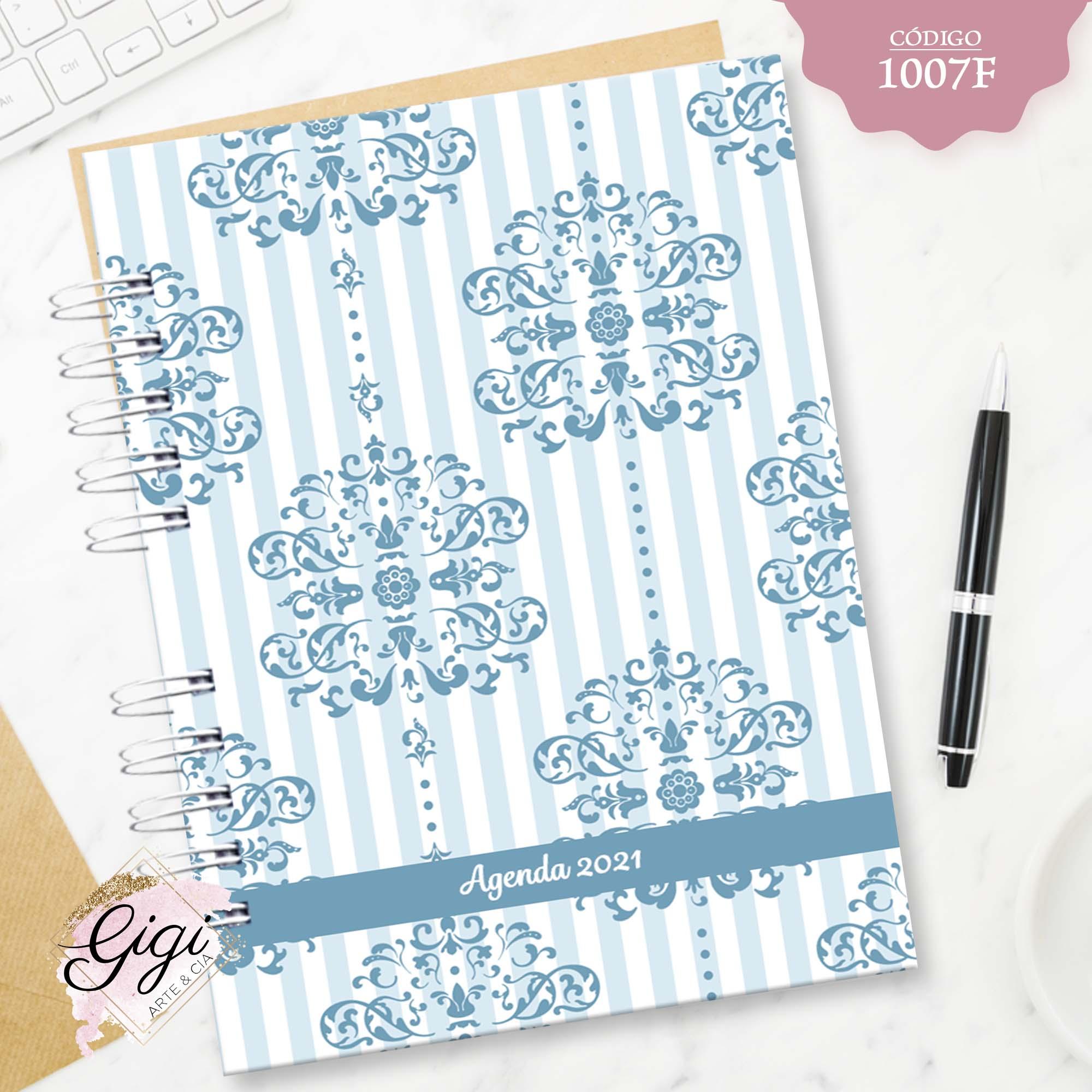 Abstrato Azul 1007F - Agendas | Blocos | Cadernos  - Gigi Arte e Cia