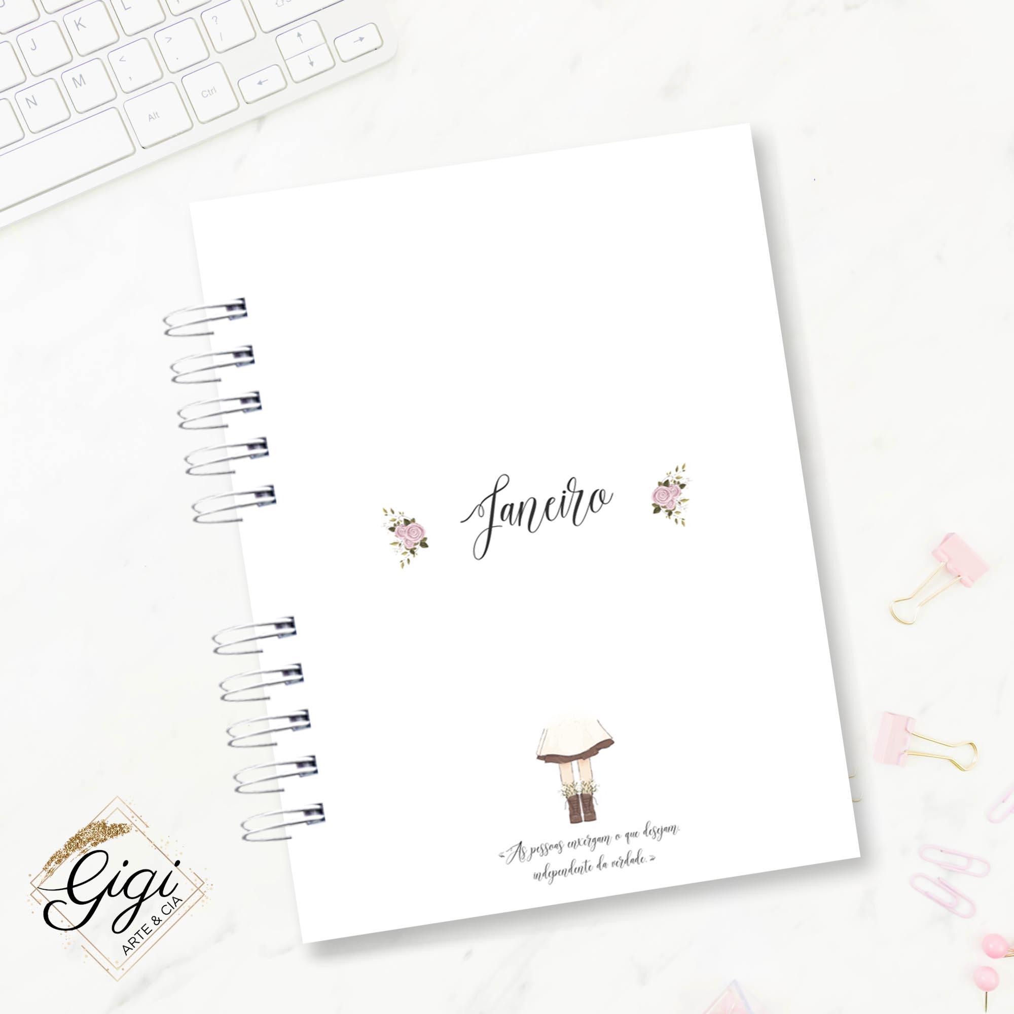 Agenda Permanente A5 - Anne White  - Gigi Arte e Cia
