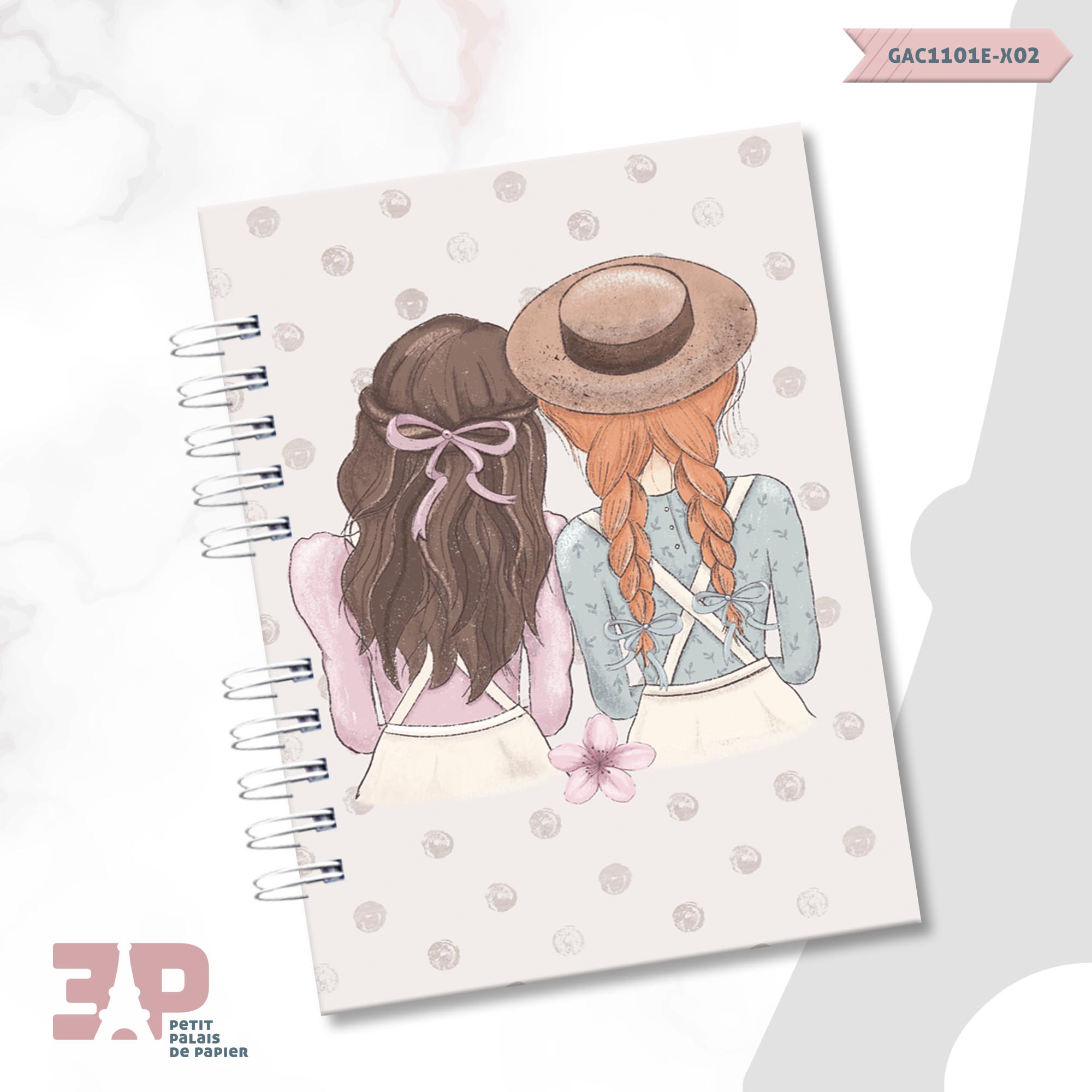 Agenda Permanente A5 - Anne White  - Petit Palais de Papier