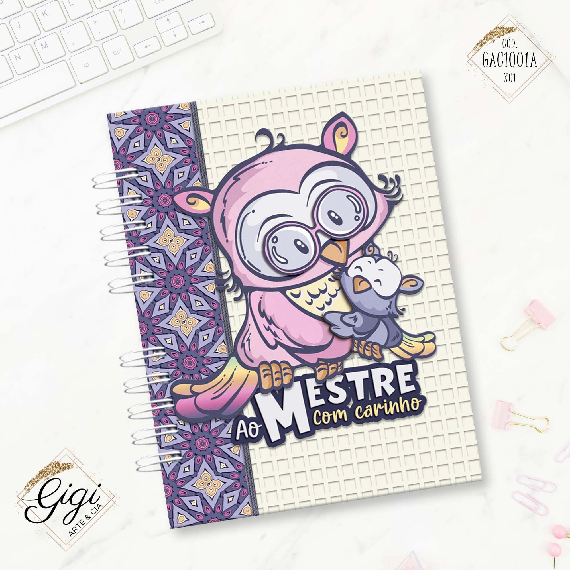 Agenda Permanente A5 - Ao Mestre com Carinho  - Gigi Arte e Cia