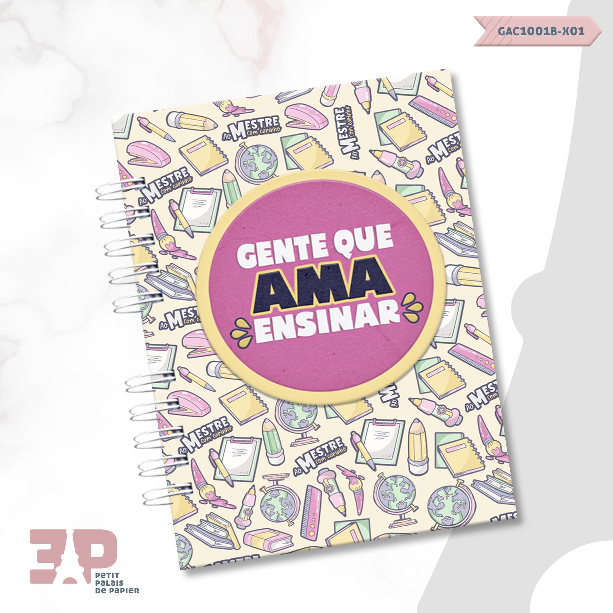 Agenda Permanente A5 - Ao Mestre com Carinho  - Petit Palais de Papier